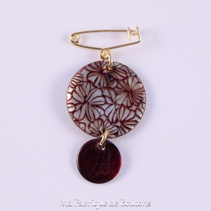 Broche Nacre Carolyn