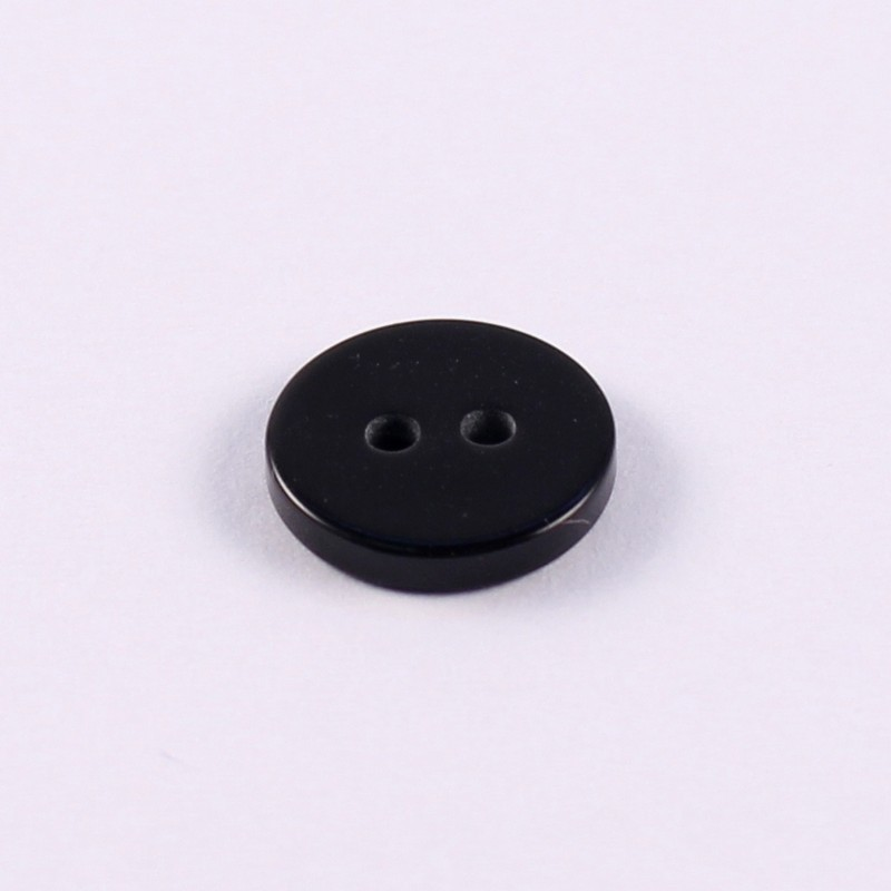 black polyester button