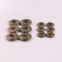 Lot de 12 boutons ABS Métal Blaise
