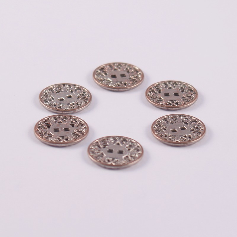 Set of 6 Metal Buttons Bobby