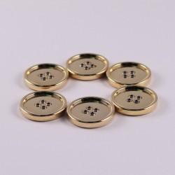 Set of 6 Golden Metal Buttons