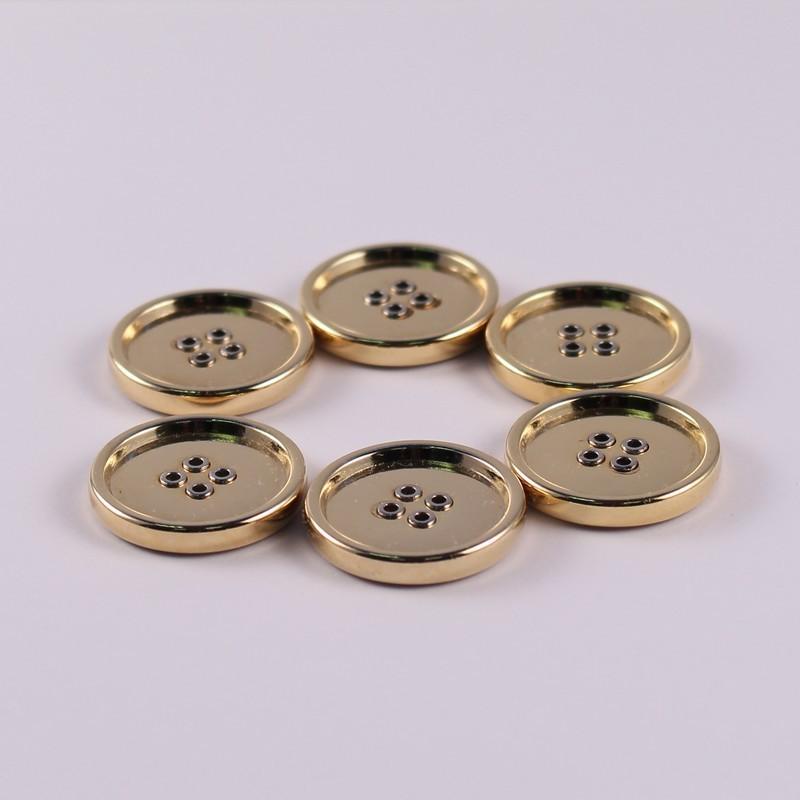 Lot de 6 Boutons Métal Doré Bibiane 22 mm