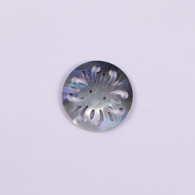 mother-of-pearl button