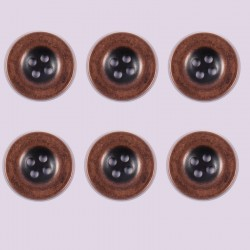 Lot de 6 boutons Polyester Aigline 10 mm