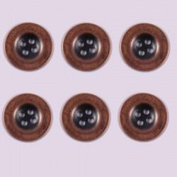 Lot de 6 boutons Polyester Aigline 10 mm