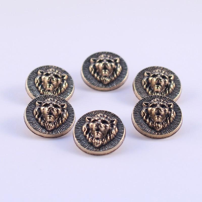 Lot de 6 boutons ABS Métal Dagmar 18mm