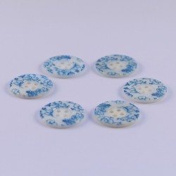 Lot de 6 Boutons Nacre Damaris 20mm