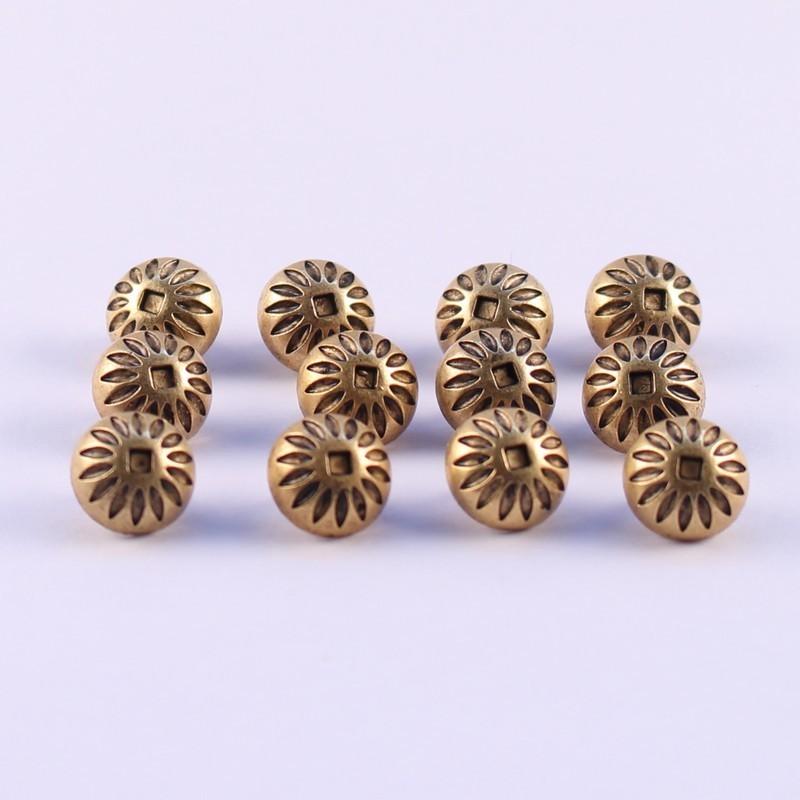 Set of 12 ABS Metal Buttons Daren