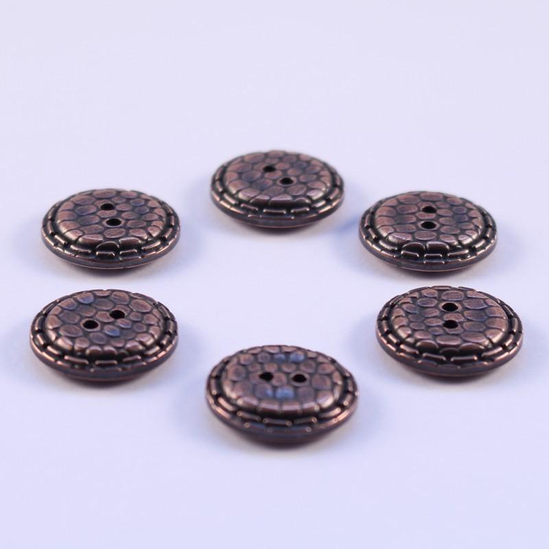 Lot de 6 Boutons ABS Metal Dauphine 20mm