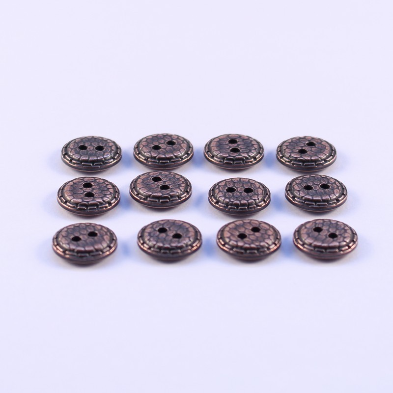 Lot de 12 Boutons ABS Metal Dauphine 12mm