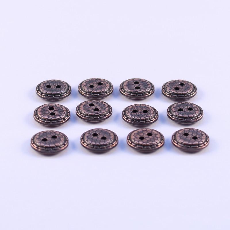 Lot de 12 Boutons ABS Metal Dauphine 12mm
