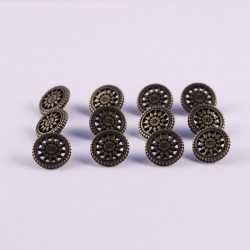 Set of 12 ABS Metal Buttons