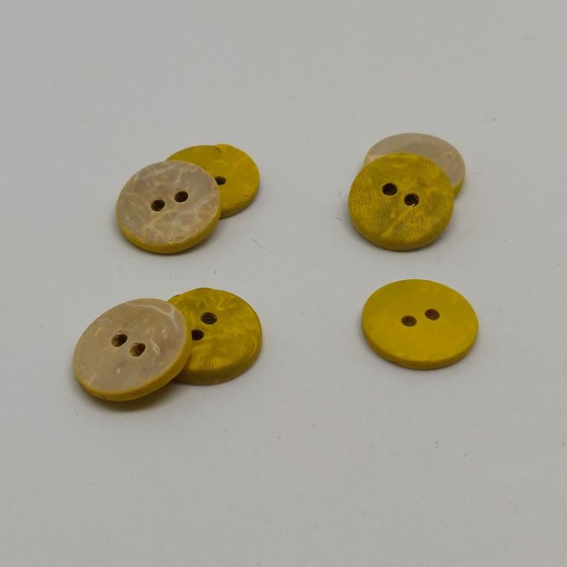 yellow coconut button Dolaine