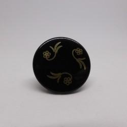Bouton métal noir gravé Gelly