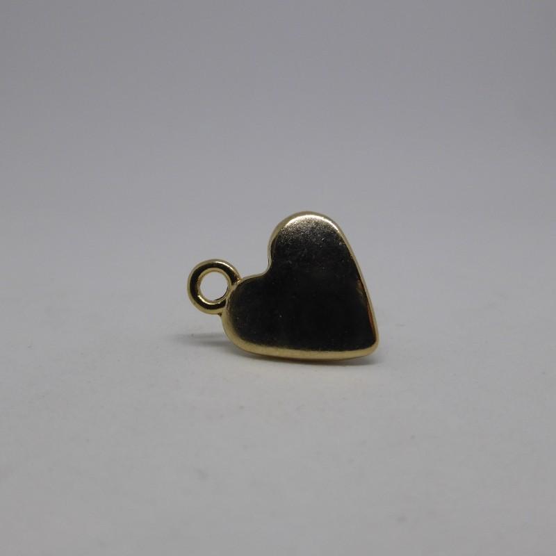 Golden heart shaped button Genèva