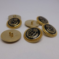 metal button anchor 15 and 22mm Genoulph