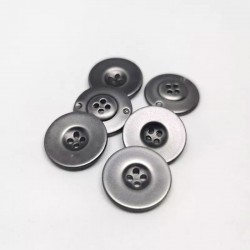 abs button metal grey Gilly