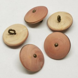 pink Wood Button Giobatta