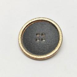 Bouton synthetique dore noir Giorgia