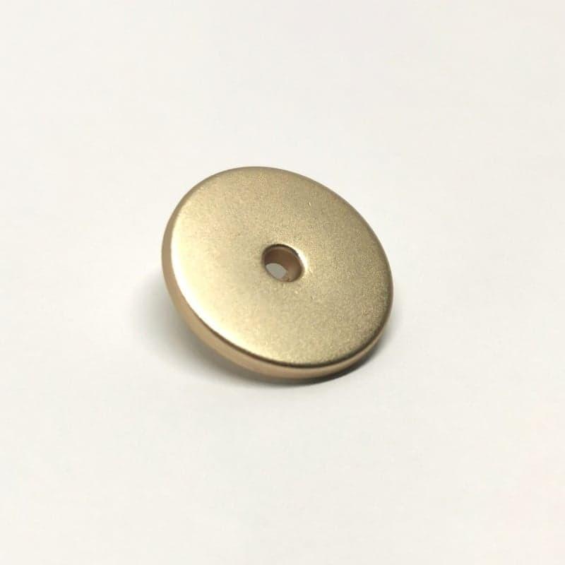 Bouton metal dore 18mm Gorgon