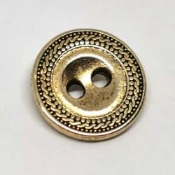 Bouton metal dore 10mm Gorgonie