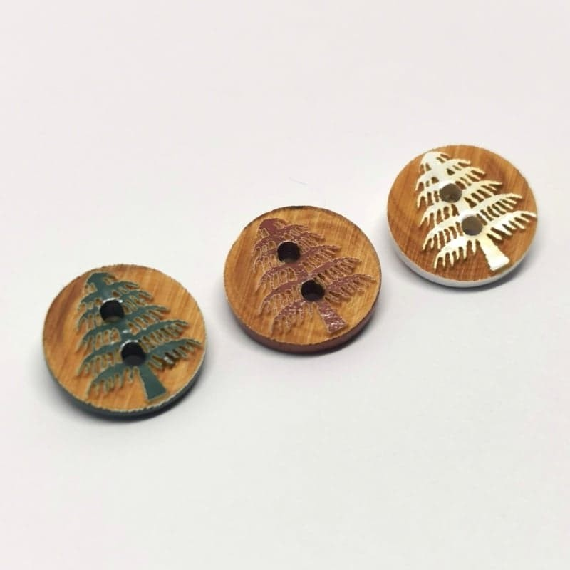Button wood fir Gregoire