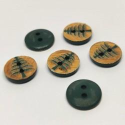 Button wood fir green Gregoire
