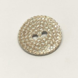 Gregorian engraved mother-of-pearl button