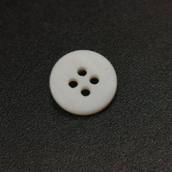 Mother of pearl matte button