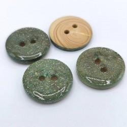 Wooden glitter button Guérande