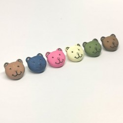 Children's teddy bear sewing button