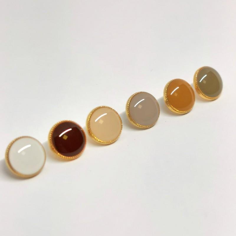 Button metal enamel colored Gregoria