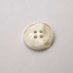 Bouton imitation corne blanc