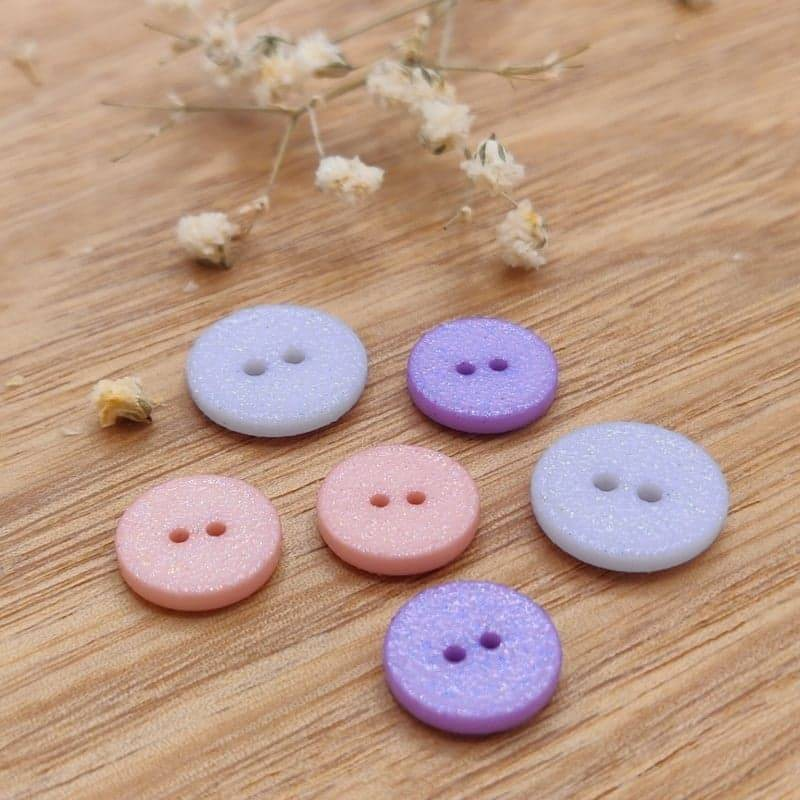 Children's glitter buttons