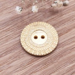 Golden metal button Gwendal