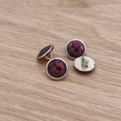 Metal button burgundy Gwilherm
