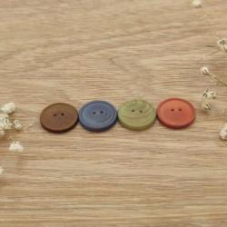 Bouton bois couleur