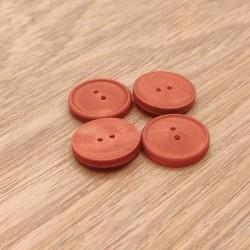 Bouton bois rouge
