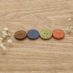 Bouton a coudre bois couleur