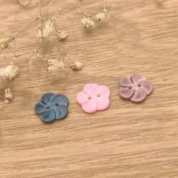 Bouton nacre fleurs couleurs