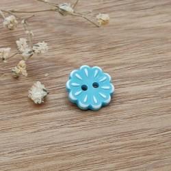 Boutons fleurs bleu