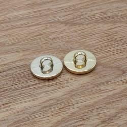 bouton metal dore