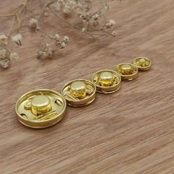 gold sewing snap
