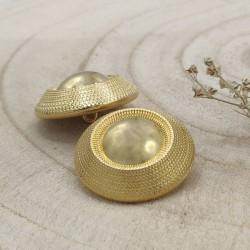 golden metal button