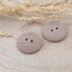 Wood Button Hélin