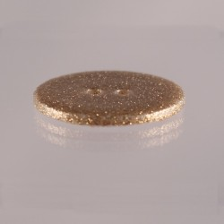 mother of pearl button with gold glitter